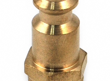 "1/4"" Brass Quick-Connect Male Coupler"