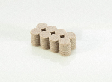"1"" Heavy Duty Felt Pads 48-Pack"