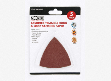 "3-1/8"" Triangle Hook & Loop Sanding Paper 5-Pack"