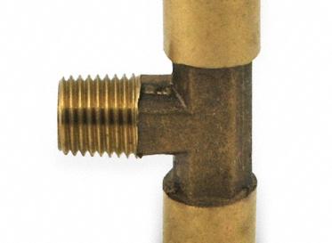 "1/4"" Brass Tee Connector"