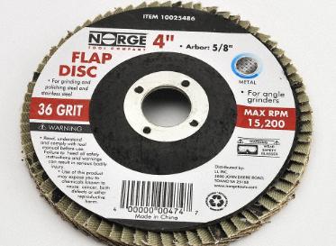 """Angle Grinder Flap Disc 4"""" 36 Grit"""