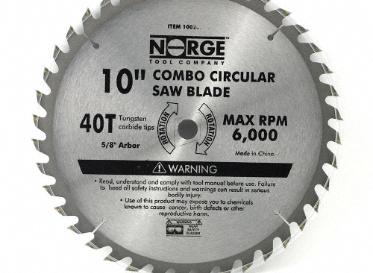 Norge 10 Quot Circular Saw Blade 40t Lumber Liquidators Canada