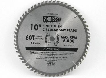 "Saw Blade 10"" 60T"