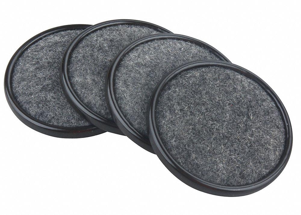 Exceptional Furniture Protectors For Hardwood Floors #1: Steel Case 2-1/2 Felt Pads 4pc