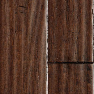 Handscraped bamboo