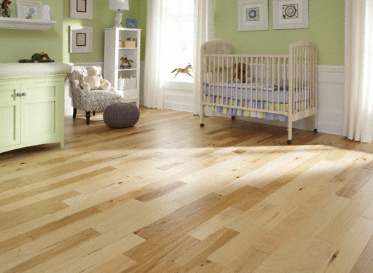 "Virginia Mill Works Engineered Clic Natural 7/16""x4 3/4"" Hickory Carya Ovata 1820 Clear Finish"