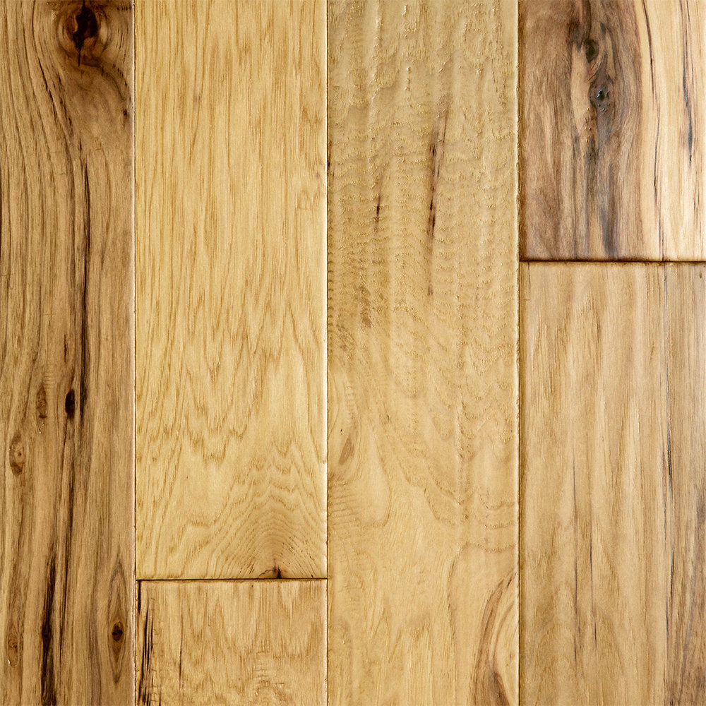 7 16 x 4 3 4 natural hickory easy click virginia mill for Bellawood prefinished hardwood flooring