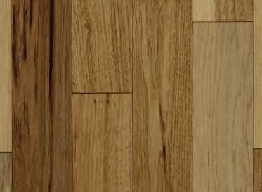 "BELLAWOOD Engineered Natural 1/2""x3 1/2"" Hickory Carya Ovata 1820 Clear Finish Engineered"
