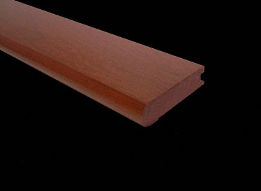 "3/16"" x 3-1/8"" x 78"" Brazilian Redwood Stair Nose"