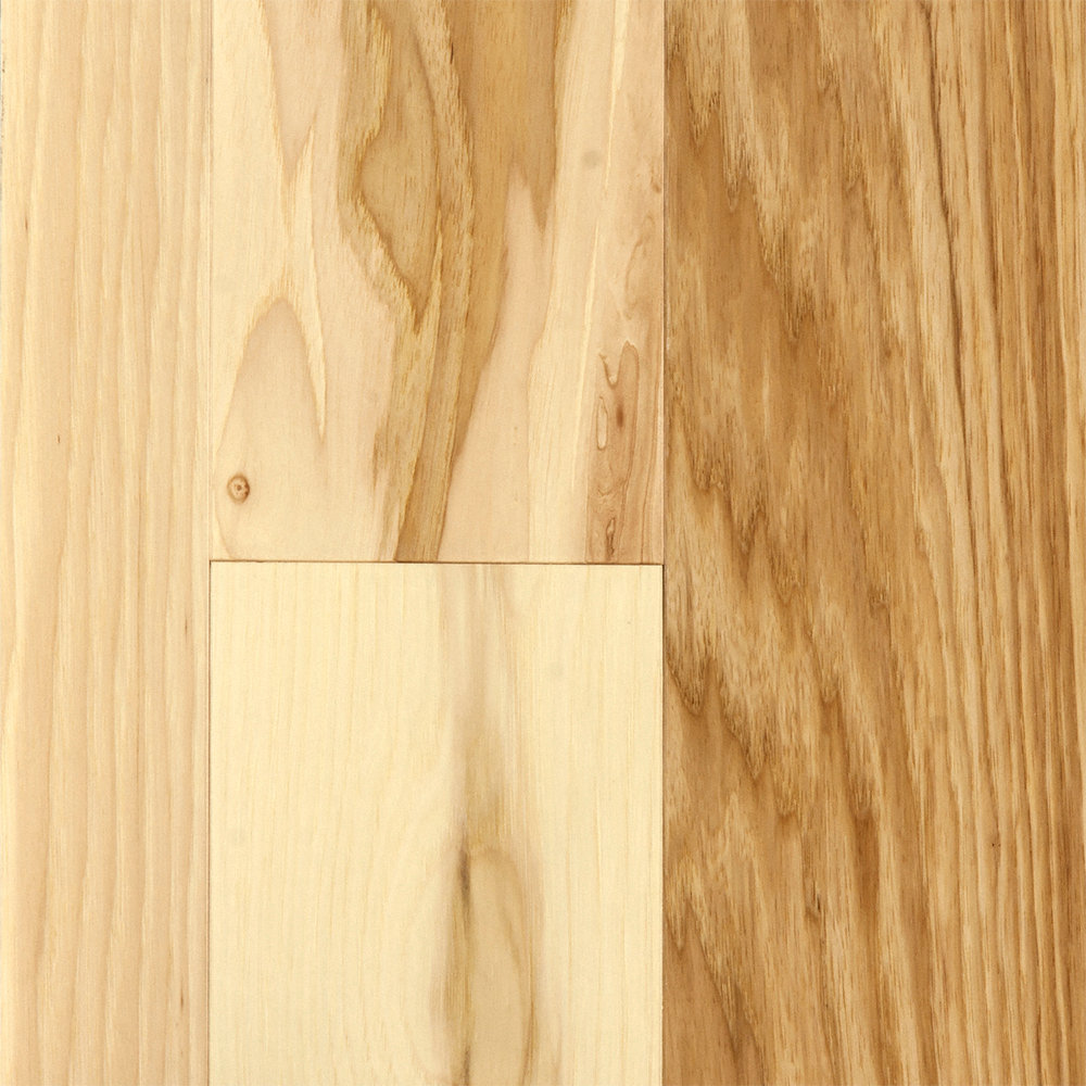 3 4 x 5 matte hickory natural bellawood lumber for Hardwood floor choices