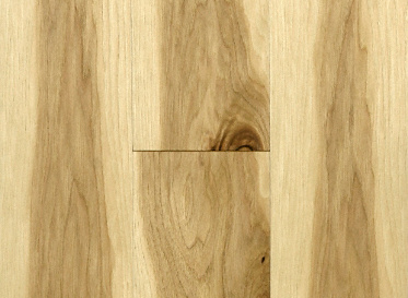 "Mayflower Natural 3/8""x5"" Hickory Carya illinoinensis  Clear Finish Engineered"