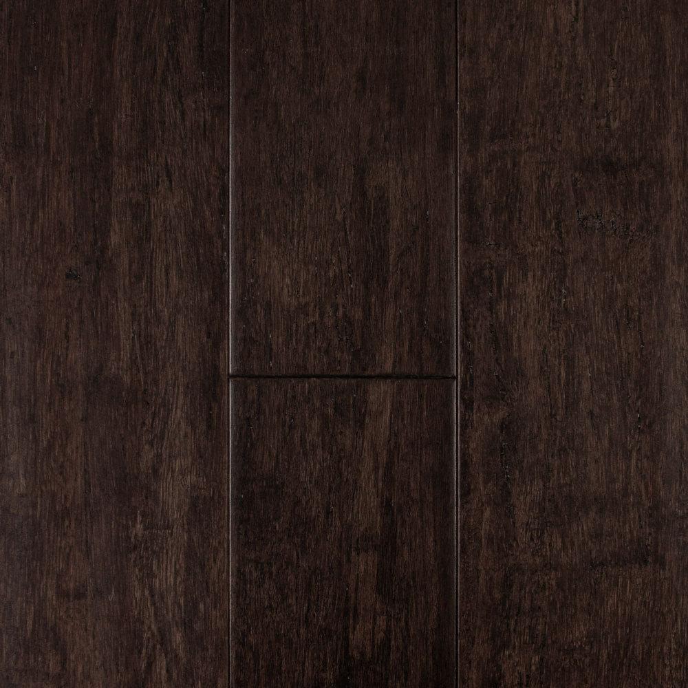 "Strand Bamboo Laminate Flooring: 7/16"" X 5-1/8"" Distressed Cocoa Strand Bamboo"