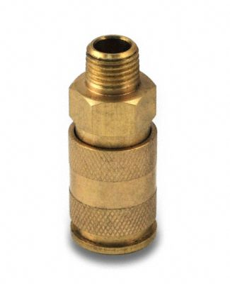 "1/4"" Universal Brass Quick-Connect Male Coupler"