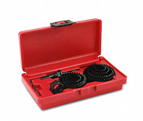 Carbon Steel Hole Saw Set 10pc