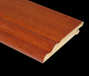 Prefinished Brazilian Cherry Veneer Baseboard