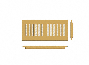 "4"" x 12"" Qing Zebra Bamboo Drop In Grill"
