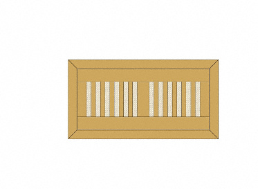"4"" x 12"" Ash Prefinished  Grill w/flush"