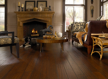 Virginia Mill Works Engineered Natural Asian Birch B. Costata Trautv Stained Finish Engineered