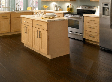 "Virginia Mill Works Engineered Natural 3/8""x5"" Jatoba Hymenaea Courbaril Stained Finish Engineered"