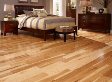 BELLAWOOD Engineered Natural Hickory Carya Ovata Clear Finish Engineered