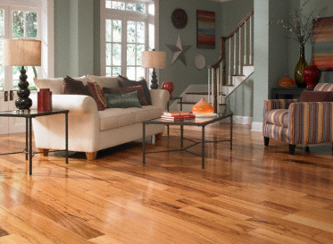 "BELLAWOOD Engineered Select 1/2""x5"" Brazilian Koa Muiracatiara 2160 Clear Finish Engineered"