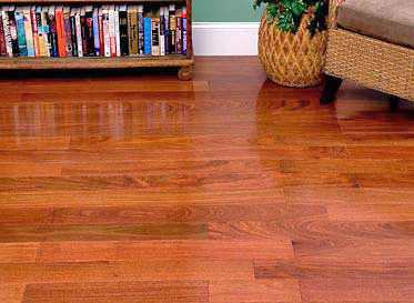 "BELLAWOOD Select 5/16""x2 1/4"" Santos Mahogany Cabriuva vermelha 2200 Clear Finish Solid"