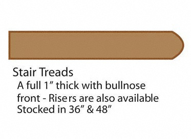 "48"" Natural Strand Bamboo Tread"