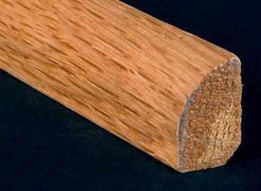 "1/2"" x 3/4"" x 6.5 LFT Red Oak Shoe Molding"