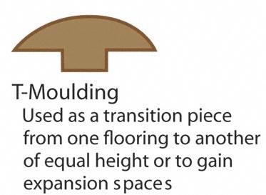 "Spice T-Molding 5/8"" x 2"" x 78"""