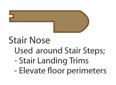 "3/4"" x 3-1/4"" x 78"" Unfinished Hickory Stair Nose"