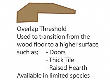 Prefinished Butter Rum Oak Threshold