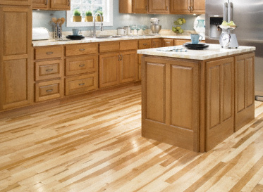 "Ty Pennington Hardwood Natural 3/4""x2 1/4"" Birdseye Maple Acer Saccharum 1450 Clear Finish Solid"