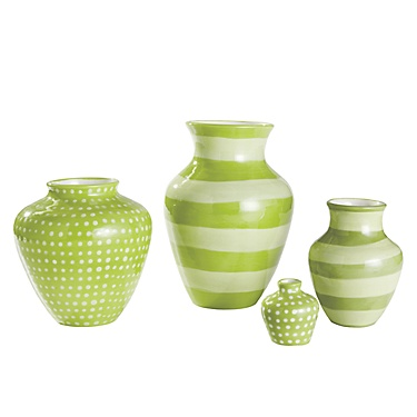 Maine Cottage: Ceramic Vases, Hot Lime