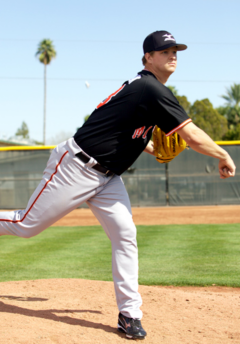 Matt Cain's follow-through provides additional power