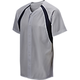Mizuno Youth Full Button Mesh ColorBlock Jersey