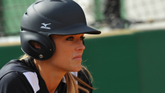 Jennie Finch waiting on deck