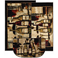 Wine And Glasses Brown - 3 Piece Set