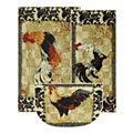 Bergerac Rooster Neutral - 3 Piece Set