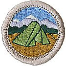Camping Merit Badge Emblem