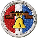 Citizenship in Nation Merit Badge Emblem
