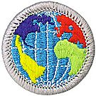 Citizenship in World Merit Badge Emblem