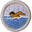 Swimming Merit Badge Emblem