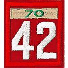 Two-digit Custom Unit Numeral with Veteran Bar(Red)