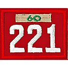 Three-digit Custom Unit Numeral with Veteran Bar(Red)