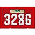 Four-digit Custom Unit Numeral with Veteran Bar(Red)