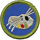 Art Merit Badge Emblem