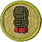 Backpacking Merit Badge Emblem