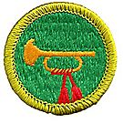 Bugling Merit Badge Emblem