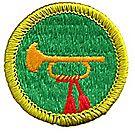 Bugling Merit Badge Emblem