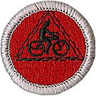 Cycling Merit Badge Emblem